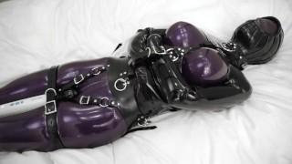 Bondage Orgasm Totally Enclosed In Latex