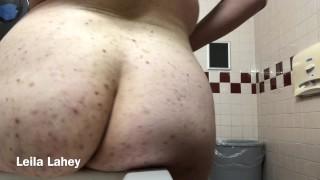 BBW Strips And Masturbates At Work