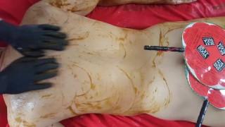 Esthetician Trainning / Pumkin Enzyme Body Massage SPA TREATMENT
