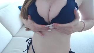 Milf Mommy Bikini Swimwear DD Tits Posing