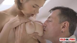 Old Man Fucks A Girl With Big Natural Tits