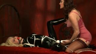 Christina And Emily Play With Bondage Latex And Vibrator