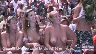 Exhibitionist Milf Wet T Shirt Contest At A Nudist Resort