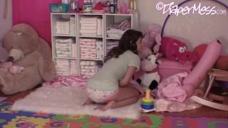 Diaper Girl Messes Training Panties