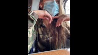 Teen Fucks Her Self On The Train