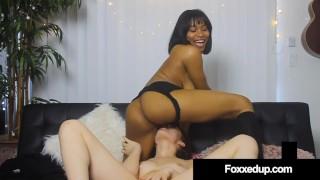 Young Black Jenna Foxx Pussy Fucks Eye Candy Sabina Rouge!