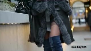 Julie Skyhigh Walking Fur Coat Walking 1