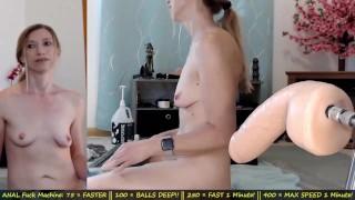Huge Dildo Fuck Machine Nails Her Ass