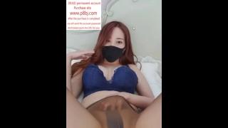 South Korean D Cup Female Anchor Bj Game Masturbation Episode 4