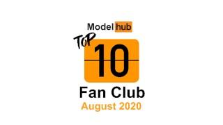 Top Fan Clubs Of August 2020   Pornhub Model Program