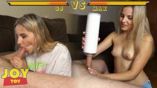 What's Better? Blowjob Vs Male Masturbator Max 2   Split Screen 4K