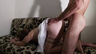 Milf In Stockings Got Underskirt Fuck
