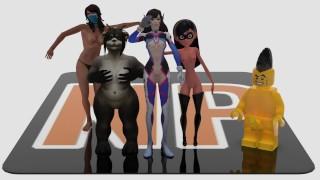 Violet Parr, Lego Porn, WoW Porn   NakedPeter Animations Compilation 2019