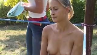 Eva Vs Jana Topless Boxing