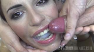 Premium Bukkake   Silvana Swallows 58 Huge Mouthful Cumshots