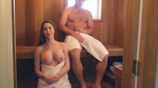 Sexy And Horny MILF Fucks Teen In Sauna