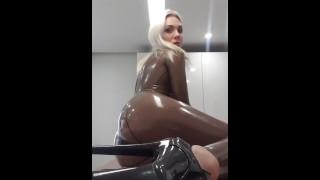 Katerina In Transparent Latex Catsuit