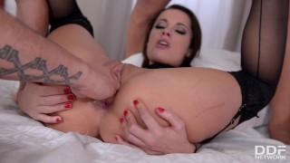 XXL Cocks Stuffed Balls Deep Into Submissive Babe Nikita Bellucci's Asshole