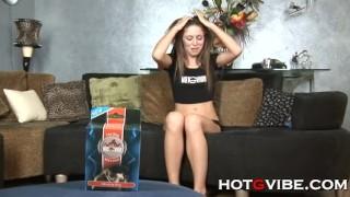 Elegant Brunette Orgasm With Hotgvibe
