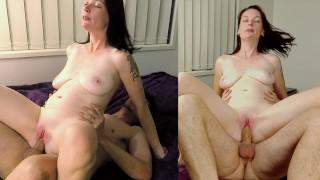 Hot Amateur Girlfriend Brunette Riding Cock And Fucking Till CreamPie