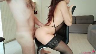 Horny Striptease Girl Hard Fucking   Cum On Ass