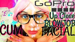 Massive Facial Close Up GoPro Blowjob From MyLatinaCrush @TheFunnyFluffer