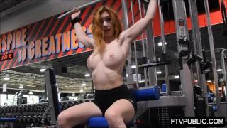 Fit Redhead Public Gym