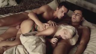 THREESOME FANTASY MMF. Two Lucky Men Fucking Kinky Wife