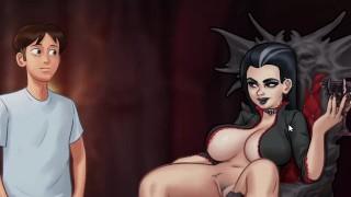 Summertime Saga 0.20.6   Graveyard Halloween Vampire Sex