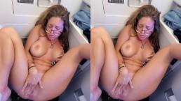 Public Squirting In An Airplane Bathroom INSANE!!