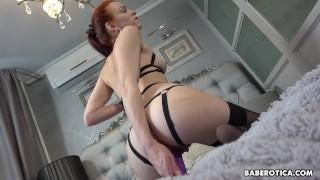 Solo, Ginger Model, Eva Is Gently Masturbating, In 4K