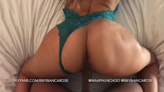 Interracial Cumshot | Blonde Latina Strokes, Sucks & Fucks BBC | Bianca Rose