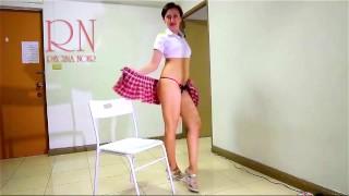 Striptease Of Cute Slim Chick. Part 2 Dress, Panties, Nudity, More…