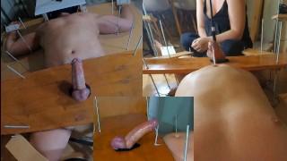 Amateur Femdom Tease And Denial Handjob + PinWheel. POV. Triple Ruined Orgasm. Post Orgasm Torture