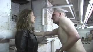Mistress Humiliates And Kicks An Old Man