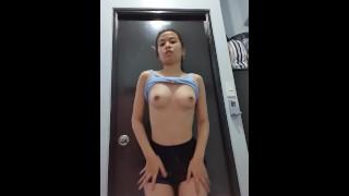 Fit 18yo Filipina Amateur Teen Striptease Ass Slapping   MiaMendozaOfficial