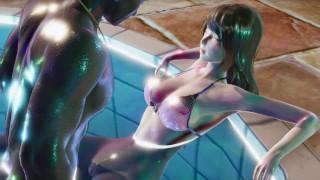 D.Va Spreading Legs For BBC In Pool   3D Hentai Uncensored   Male POV + Female POV   60 FPS