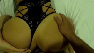 POV Stepsiter With Sexy Black Lingerie And Anal Plug.