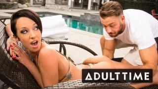 Jada Stevens Fine Ass Gets Poolside Massage
