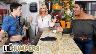 Lil Humpers   Curvy Milfs Dana Dearmond & Layton Benton Sharing Big Cock In A FFM Threesome