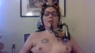 Dirty Talking Quadriplegic Moans While Masturbating Hands Free