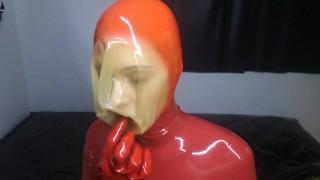 Latex Breathplay Mask