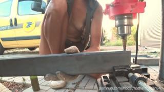 DIY Floating Table 2   Drill Holes 4k HD Hothandyman NipSlip Best Moments (Music)
