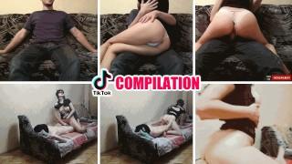 Natural Tits Big Ass Amateur Teen Rides Cock Quarantine Tik Tok Compilation