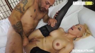 CastingAllaItaliana   Big Tits Italian Blonde Ass Fucked At Porn Audition   AmateurEuro