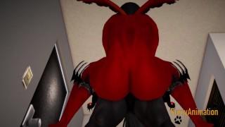 Furry Hentai 3D Yiff   Dark Wolf & Red Dragon Hard Sex