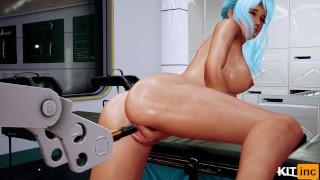 3D Hentai Malvina And A Sex Machine. Part 2 [4K, 60FPS, Uncensored, Fallen Doll]