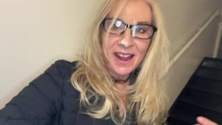 1st Cumwalk Selfie Of 2021   Joanna Meadows   NaughtyJoJo   MILF Cumwalk   Cum Selfie MILF   Reality