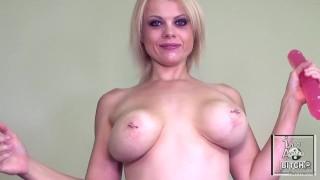 Nadia White FUCKS Her ASS With Hughe Dildo 1/4
