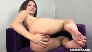 Horny Adria Rae Sticks Panties In Her Pussy